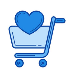 add to shopping list line icon vector image