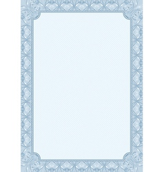 blue background with decorative ornate vector image