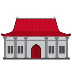 chinese building with red roof vector image