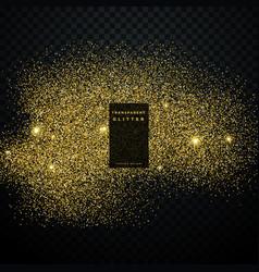 golden glitter transparent background vector image
