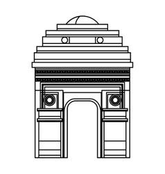 indian landmark building icon vector image vector image