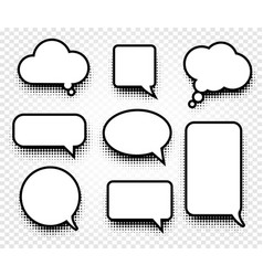 isolated abstract black and white color comics vector image vector image
