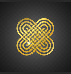 isolated abstract golden logo on vector image vector image