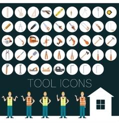 Repair tool icons vector image vector image