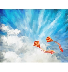 Sky Artistic Background vector image