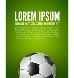 Soccer ball on the field design vector image