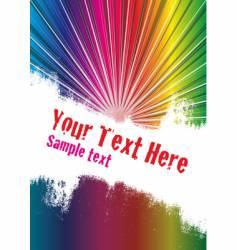 spectrum burst background vector image vector image