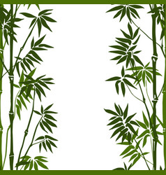 bamboo seamless vertical pattern vector image vector image