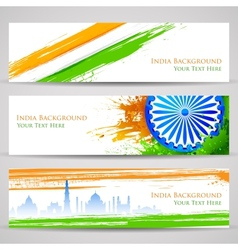 Banner and Header for India Celebration vector image vector image