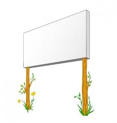 blank billboard on wooden column vector image vector image