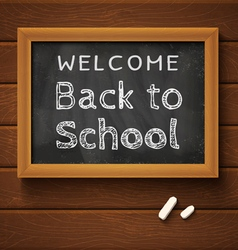 chalkboard black school vector image