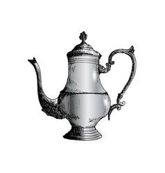 coffeepot hand drawn sketch vector image