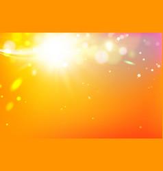 golden festive lights vector image vector image