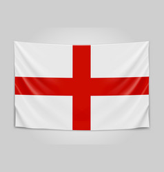 hanging flag of england england national flag vector image