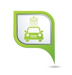 car wash symbol on green map pointer vector image
