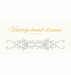 hand drawn flourish text divider graphic element vector image