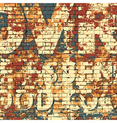 Old Grunge Brick Wall vector image vector image