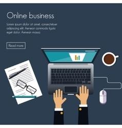 Online business vector image vector image