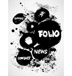 Vintage Ink Black and White Design vector image vector image
