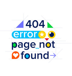 404 error page not found color website template vector