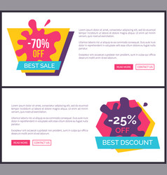 70 off best sale promotional labels with blots vector image