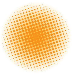 abstract halftone design element orange pop art vector image