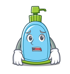 Afraid liquid soap character cartoon vector