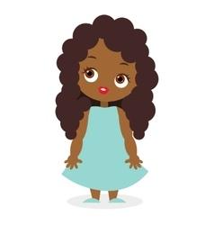 African American girl eps 10 vector