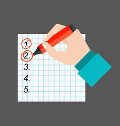Agenda list paper vector