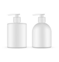 Antibacterial hand soap gel sanitizer mockup vector