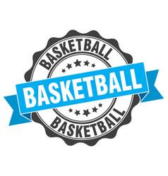 basketball stamp sign seal vector image