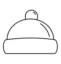 Beanie hat icon outline style vector