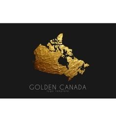 Canada map Golden Canada logo Creative Canada vector image
