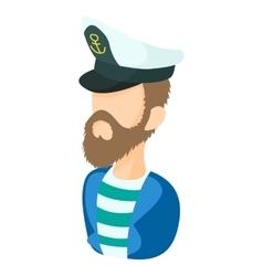 Captain icon in cartoon style vector image