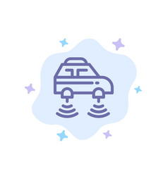 Car electric network smart wifi blue icon on vector