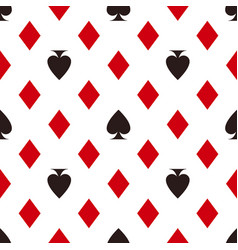 card suit pattern diamonds and spades seamless vector image