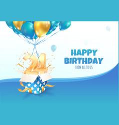 Celebrating 24 th years birthday vector