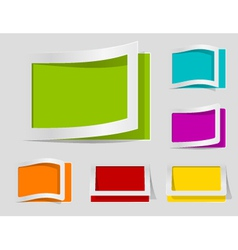 Coloured labels vector