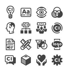 Corporate identity icon vector