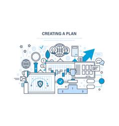 creating plan job plan time management vector image