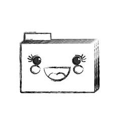 cute folder kawaii vector image