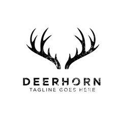 deer horn logo design inspirationdeer horn logo vector image