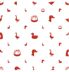Duck icons pattern seamless white background vector