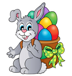 easter bunny theme image 6 vector image