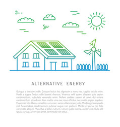 ecology power concept vector image