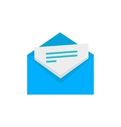 Envelope with letter flat style icon vector