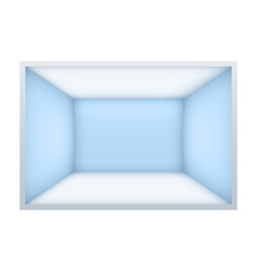 Example of empty room with blue walls vector