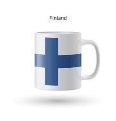 Finland flag souvenir mug on white background vector