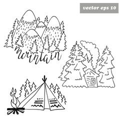 forest logos vector image