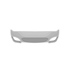 Front bumper of vehicle metal horizontal bar vector